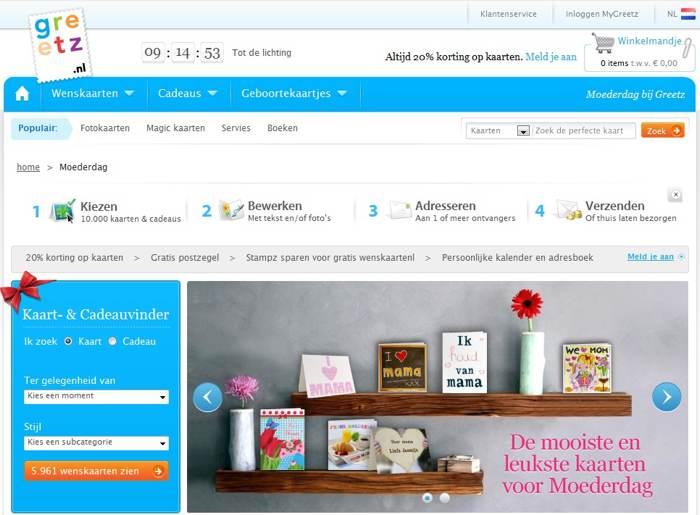 bestel en verstuur online je kaart