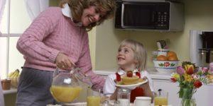 Light ontbijt voor mamma