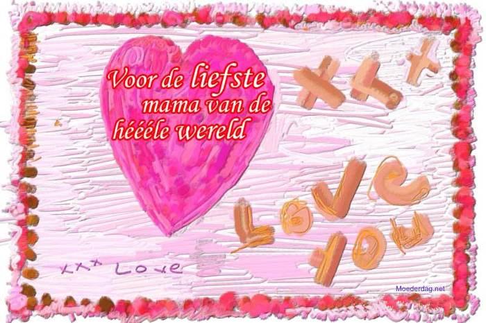 moederdagkaart hartje