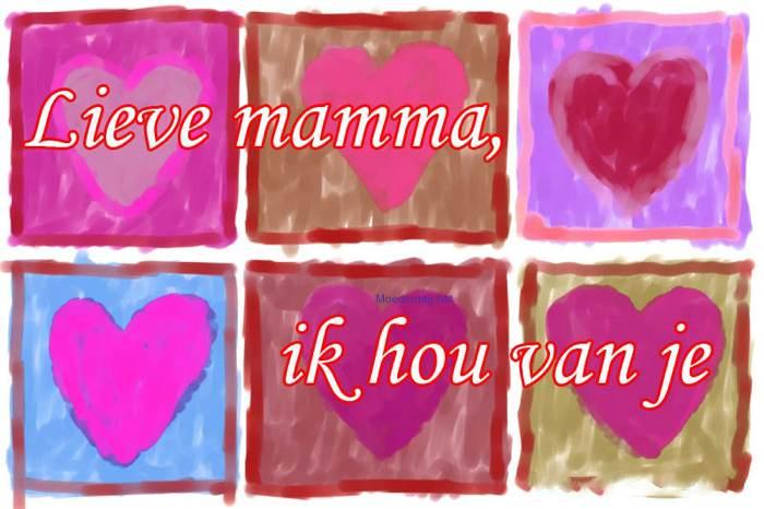 moederdagkaart houden van